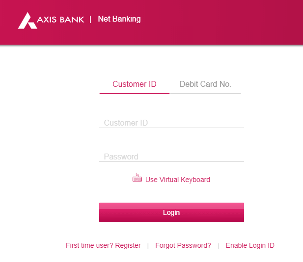Axis Bank Net Banking Customer ID