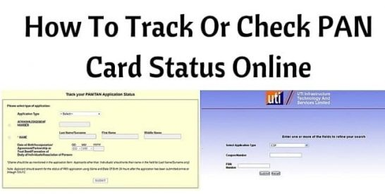 How to Apply/Register, Check Pan Card Status Online in India