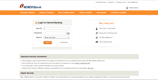How To Activate/Register ICICI Net Banking Facility Online