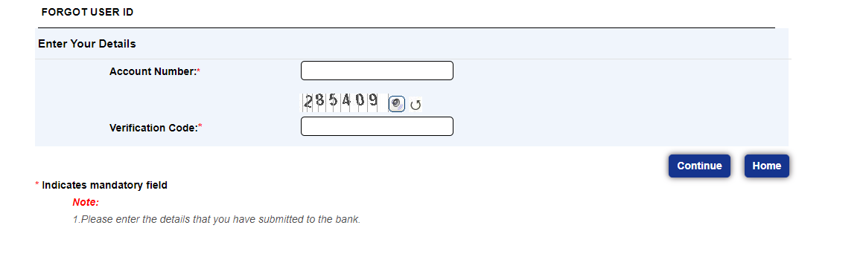 TMB Net Banking user id