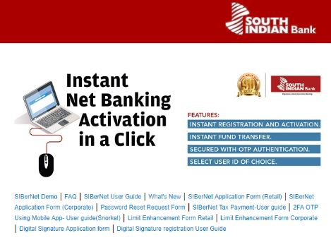 South Indian Bank Net Banking – How to Register SIBer Online Banking?