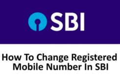 How to Change SBI Registered Mobile Number Online / Offline?