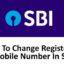 How to Change SBI Registered Mobile Number Online / Offline?