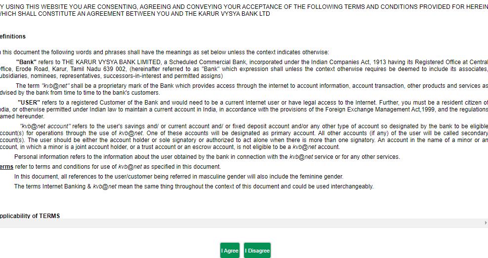 karur Vysya bank internet banking