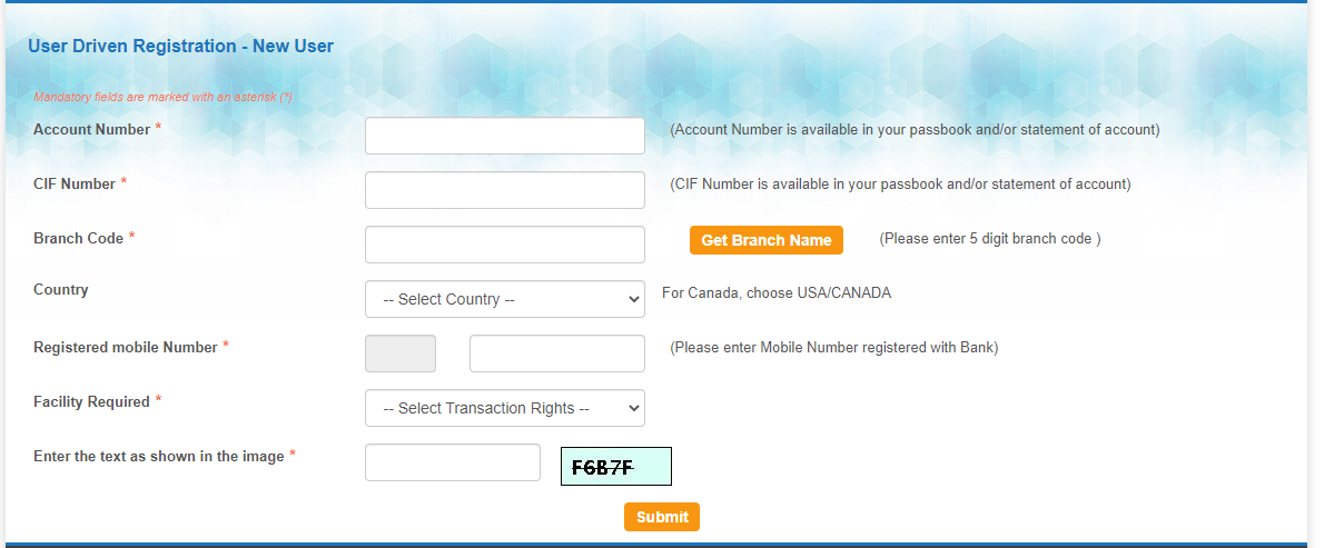 SBI Bank Internet Banking New Registration