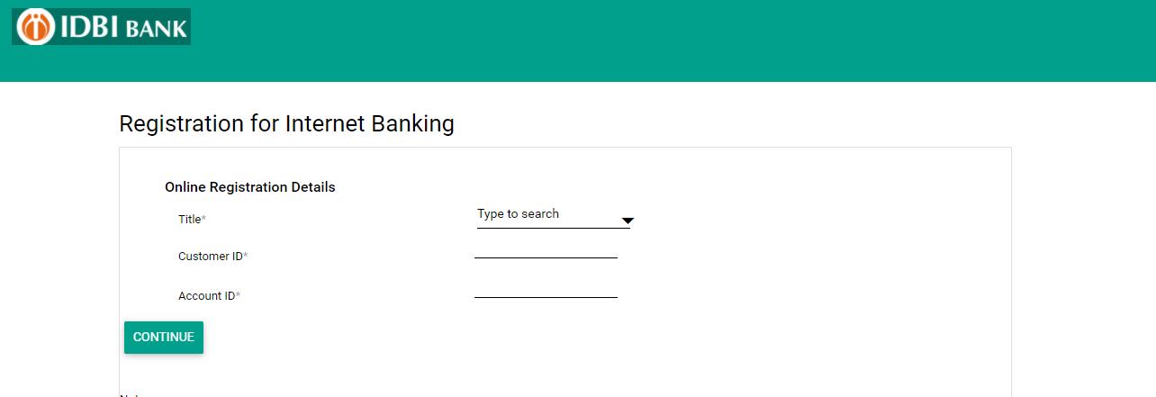 IDBI Internet Banking