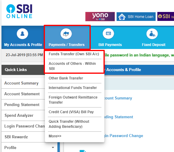 State bank of India net banking
