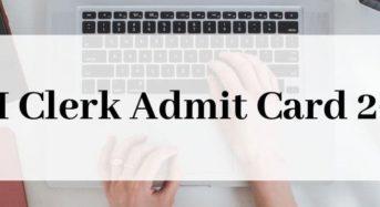 SBI Clerk Admit Card: Latest Updates